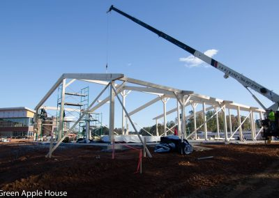 Sauter Timber supplied the CLT components for this on-site project