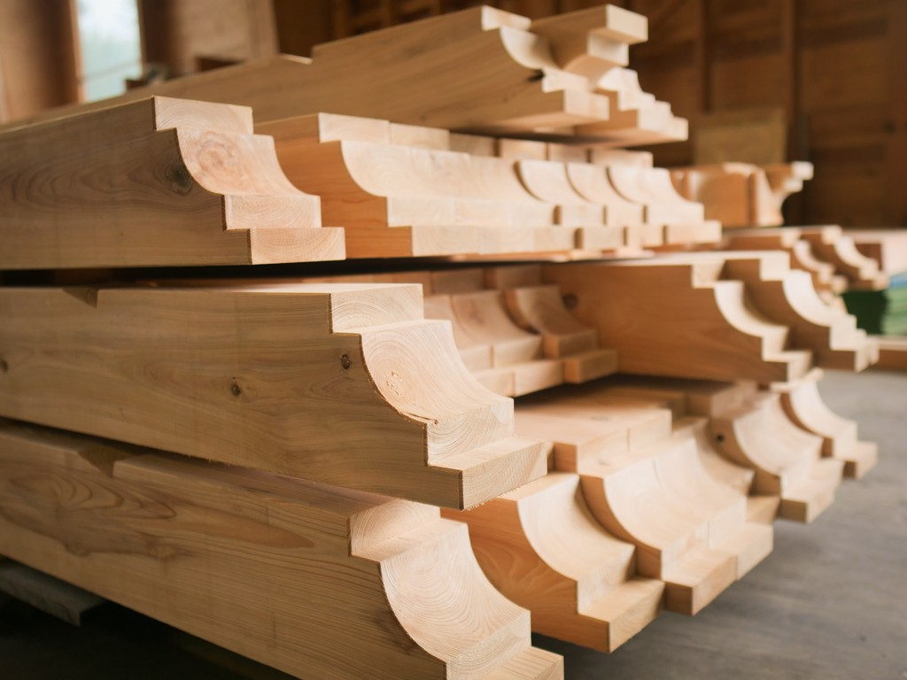 large wood component featuring specific wood joinery options