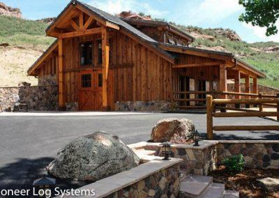 Pioneer Log System Barns